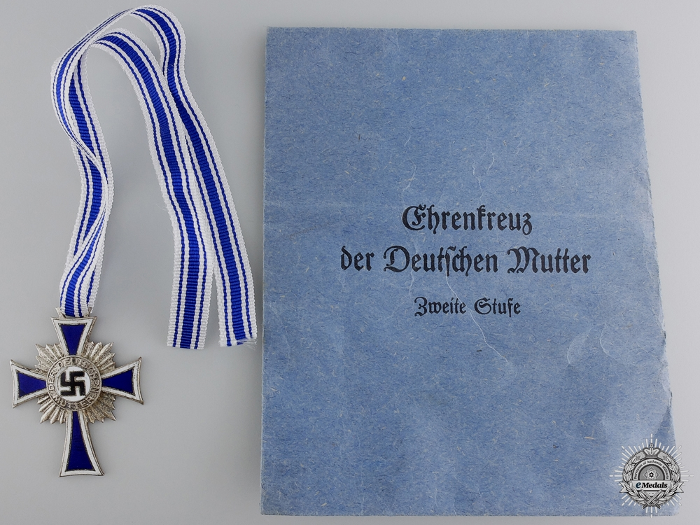 eMedals-A German Mother's Cross; Silver Grade with Packet of Issue