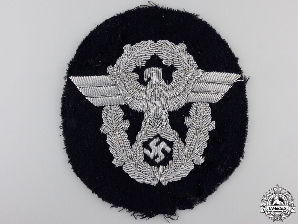 eMedals-A German Police Officers Sleeve Eagle for Panzer Wrapper