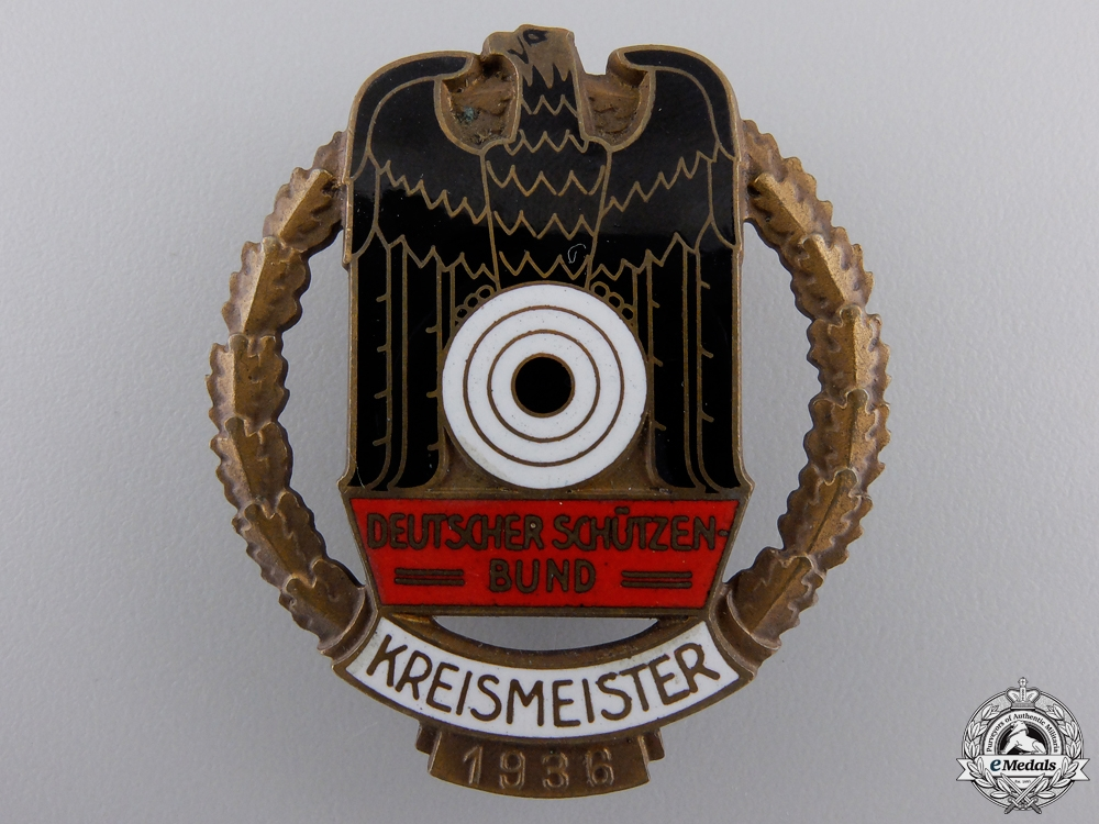 eMedals-A German Shooting Federation (DSB) County Championship Badge