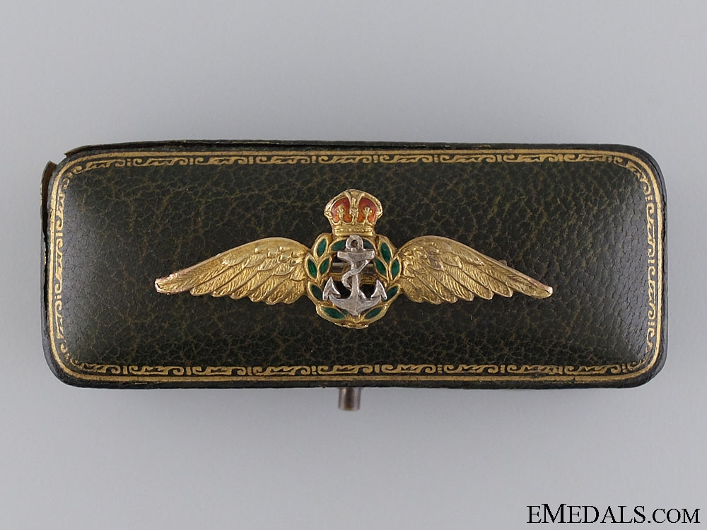 eMedals-A Gold Fleet Air Pilot Wings with Cased
