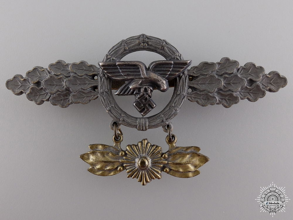 eMedals-A Gold Grade Squadron Clasp for Transport Pilots with Star Hanger