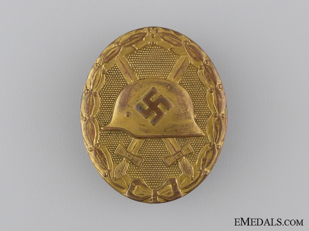 """eMedals-A Gold Grade Wound Badge; Marked """"30"""""""