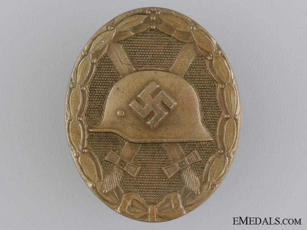 eMedals-A Gold Grade Wound Badge by Funke & Brüninghaus