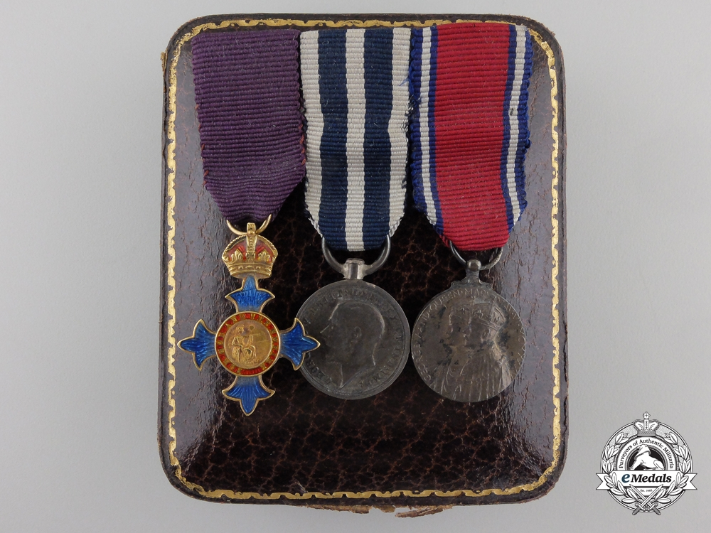 eMedals-A Gold Order of the British Empire Miniature Group with Case