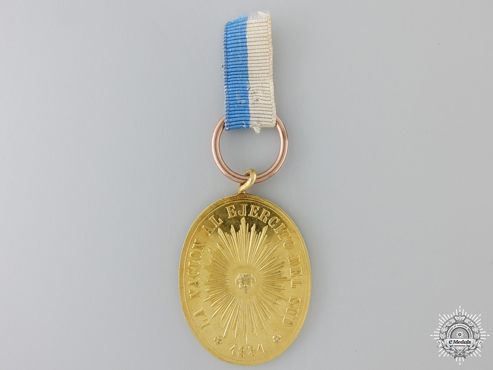 eMedals-A Gold Rio Negro and Patagonia Campaign Medal