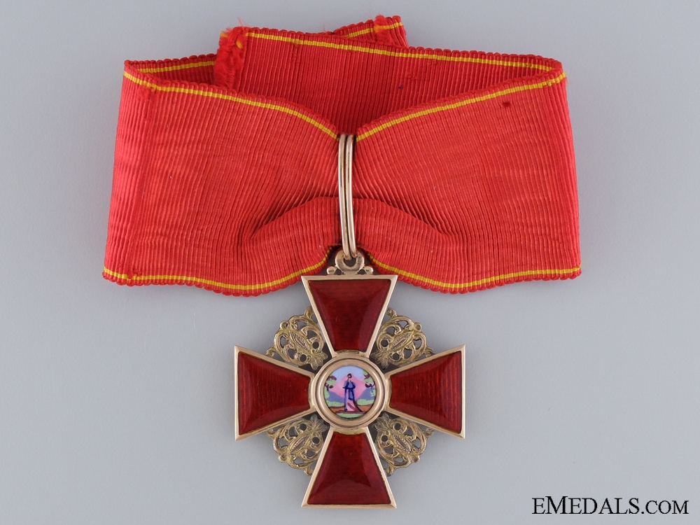 eMedals-A Gold Russian Imperial Order of St. Anne by A. Keibel; Second Class