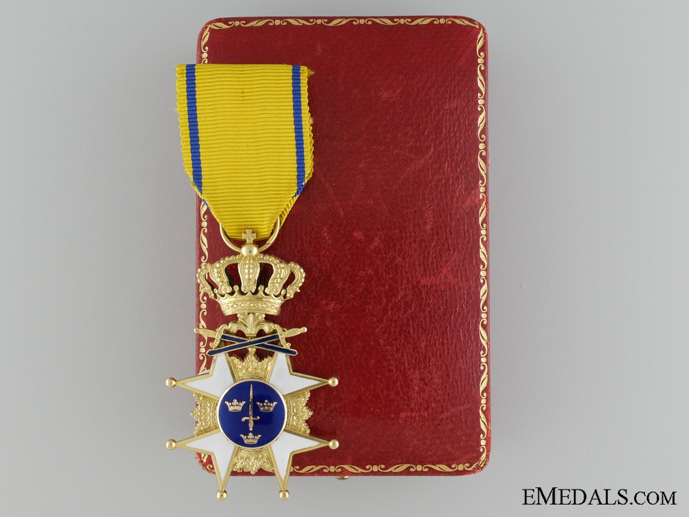 eMedals-A Gold Swedish Order of the Sword with F.Beck & Son Case