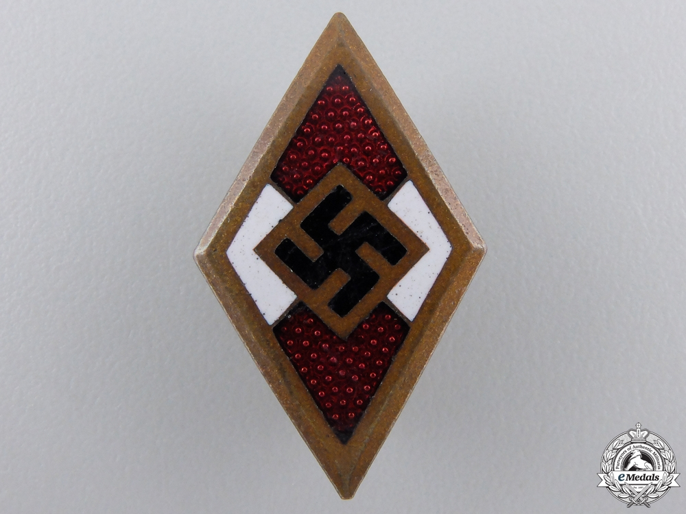 eMedals-A Golden HJ Honor Badge by Wilhelm Deumer