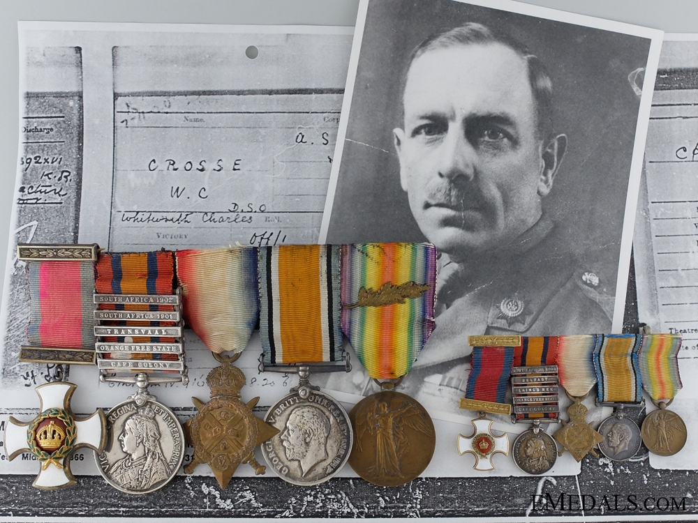 eMedals-A Great War D.S.O. Group of Five Awarded to Lieut. Colonel Crosse