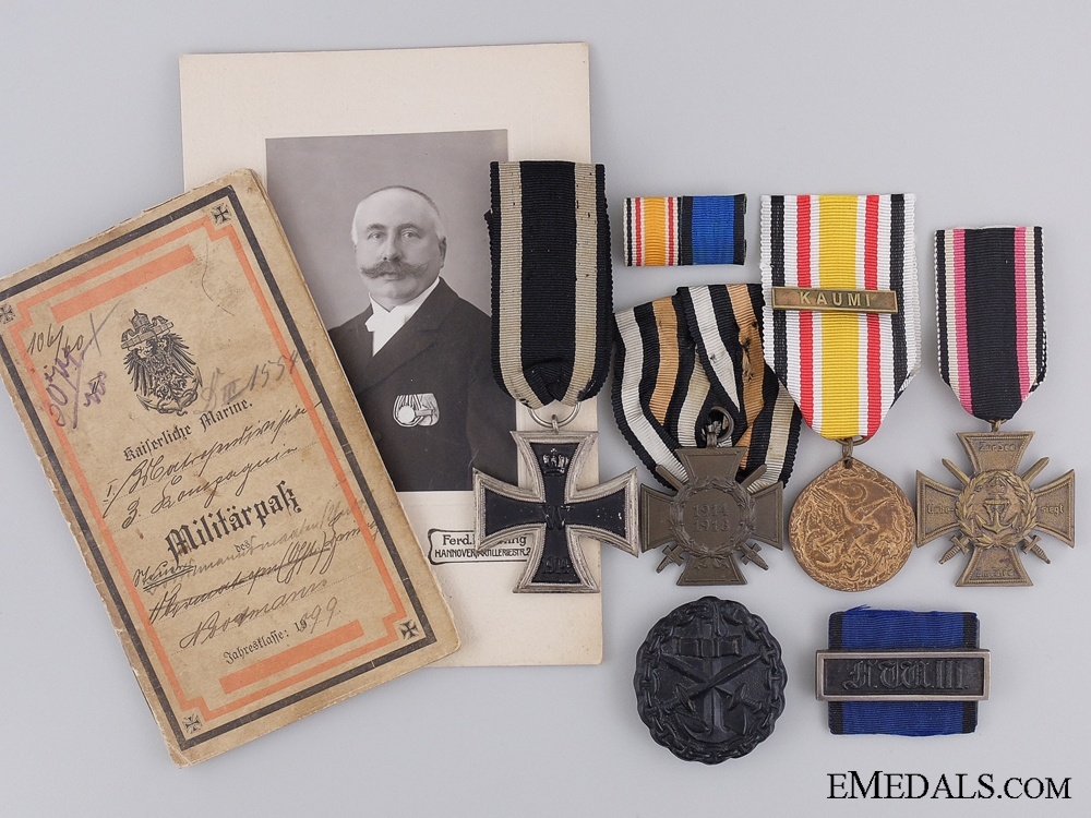 eMedals-A Great War Iron Cross Group to the German Imperial Navy