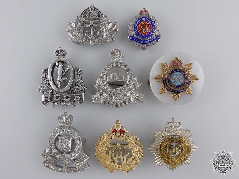 eMedals-A Group of Eight Common Wealth Regimental Pins