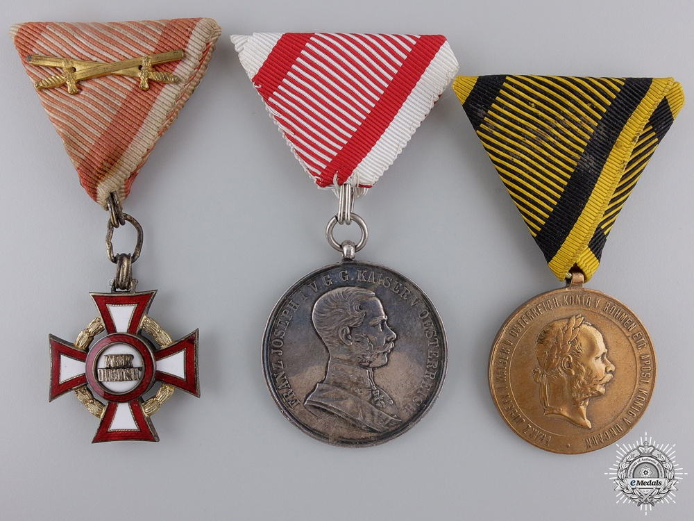 eMedals-A Group of Three Imperial Austrian Awards