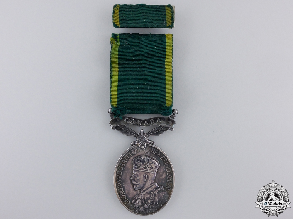 eMedals-A GV Efficiency Medal to the Royal Canadian Artillery