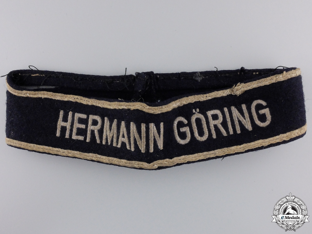 eMedals-A Hermann Göring Division Officer's Cufftitle; c.1943-45   Condignment #28