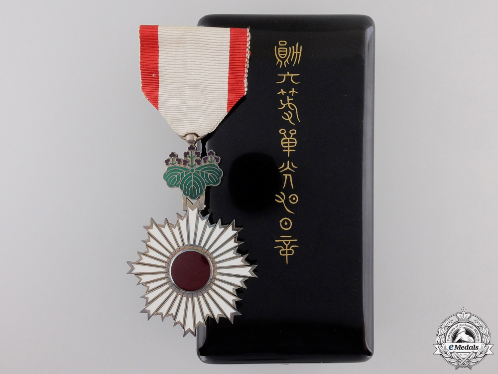 eMedals-A Japanese Order of the Rising Sun; Fifth Class with Case