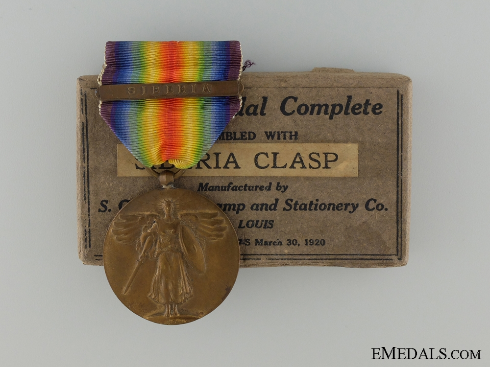 eMedals-A Japanese WWI Victory Medal with Siberian Clasp