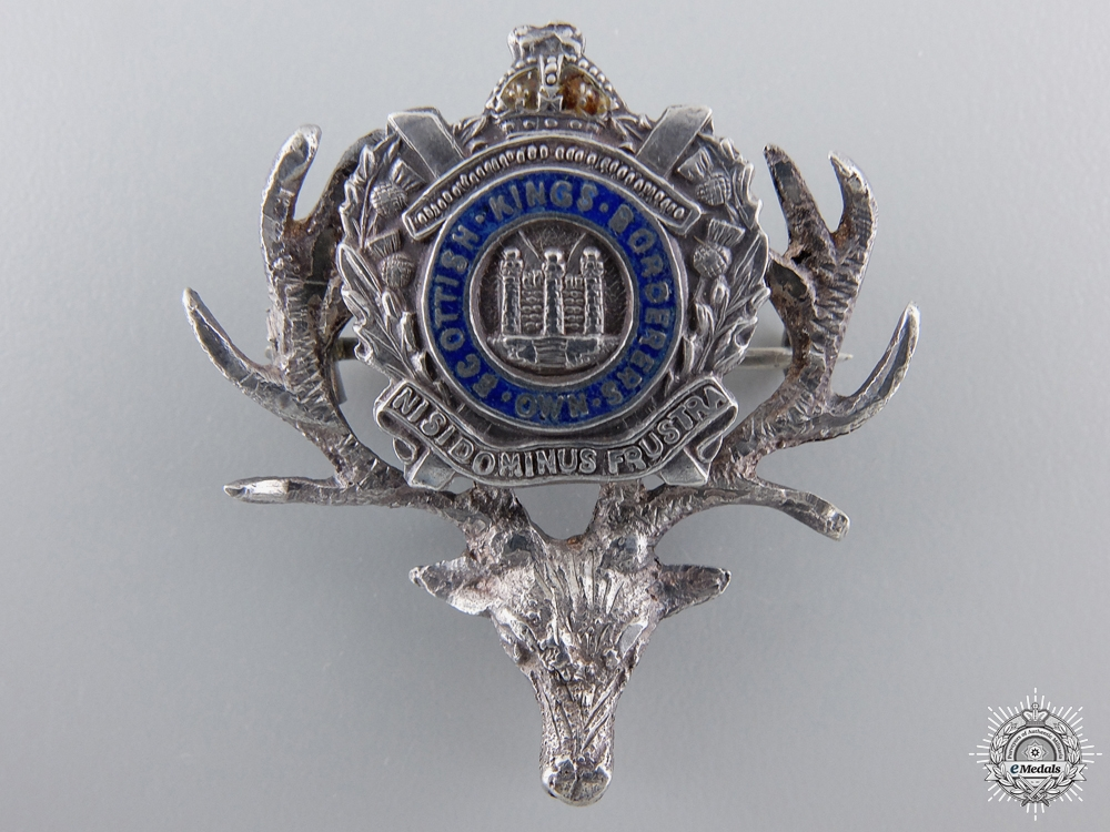 eMedals-A King's Own Scottish Boarders Stag Pin
