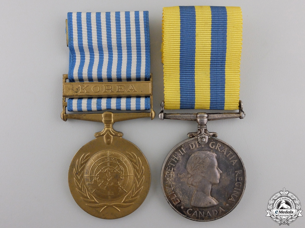 eMedals-A Korean Service Pair to the Royal Canadian Army Medical Corps