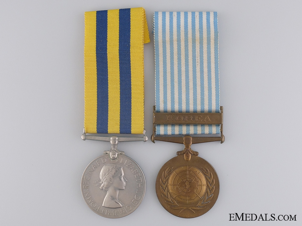 eMedals-An Early Korean War Casualty Pair to the Northumberland Fusiliers