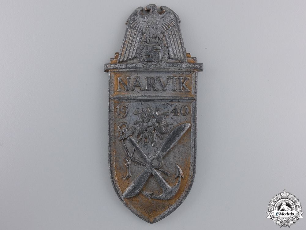 eMedals-A Kriegsmarine Issue Narvik Shield