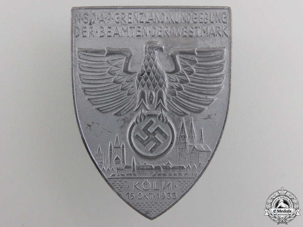 eMedals-A Large 1933 Cologne NSDAP Day Badge