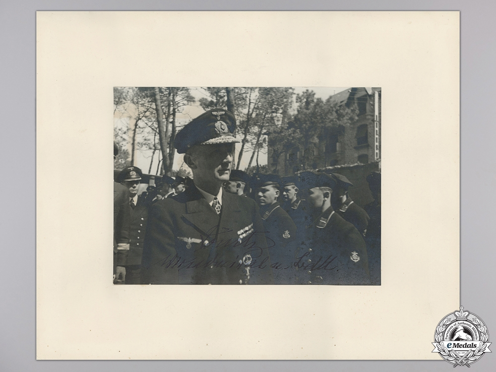eMedals-A Large Signed Photograph of Großadmiral Karl Dönitz