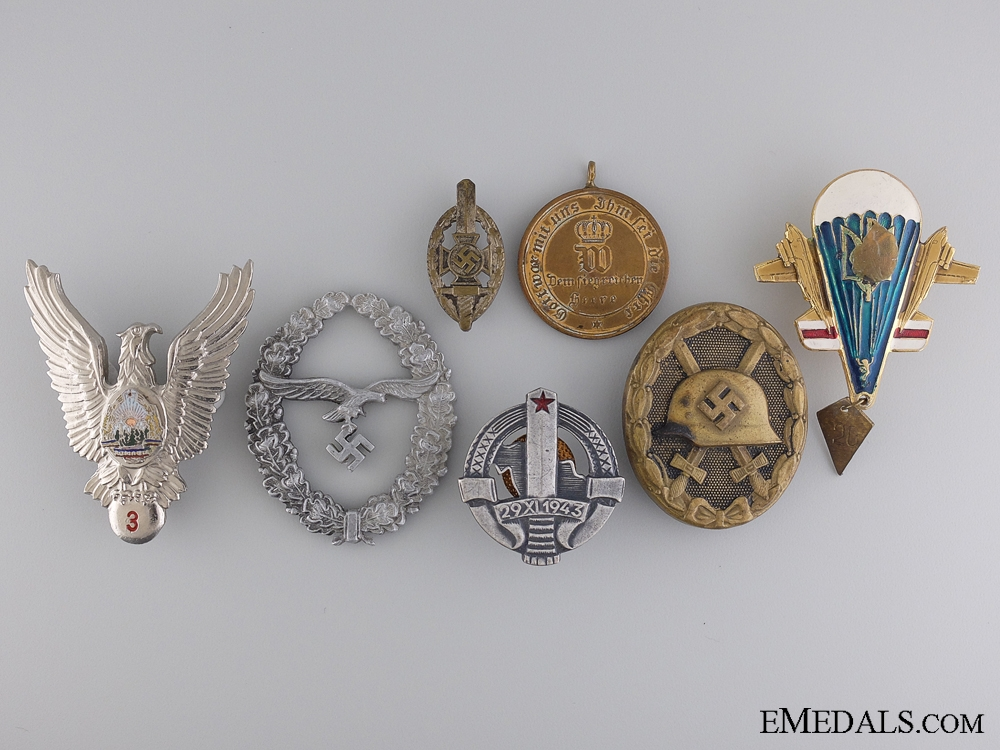eMedals-A Lot of Seven European Badges & Awards