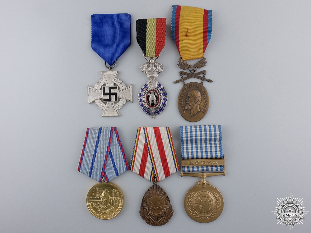 eMedals-Lot of Six European Awards and Medals