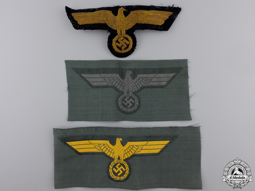 eMedals-A Lot of Three Third Reich Breast Eagles