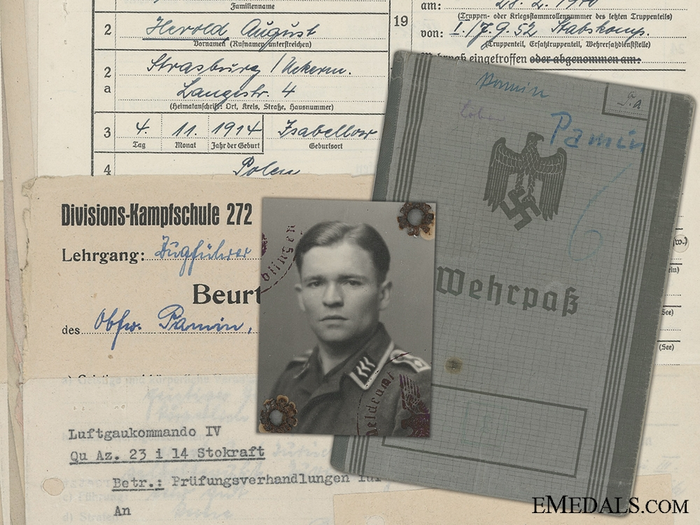 eMedals-A Luftwaffe  Wehrpas & Doucments to 52nd Fighter Squadron Staff