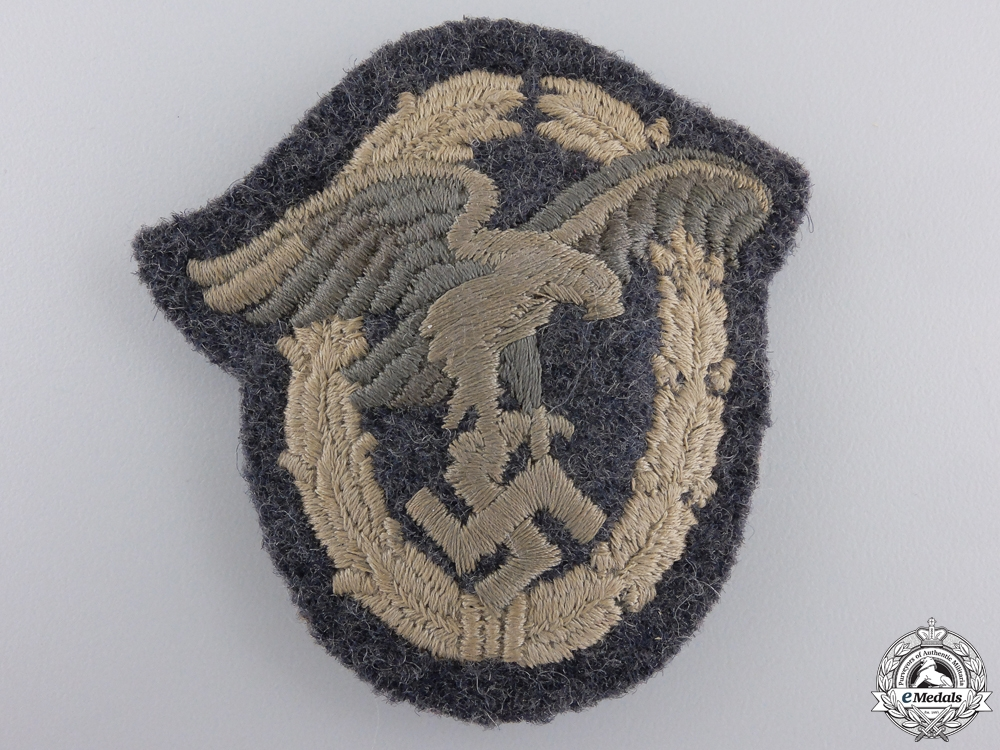 eMedals-A Luftwaffe Observer's Badge; Padded Cloth Version