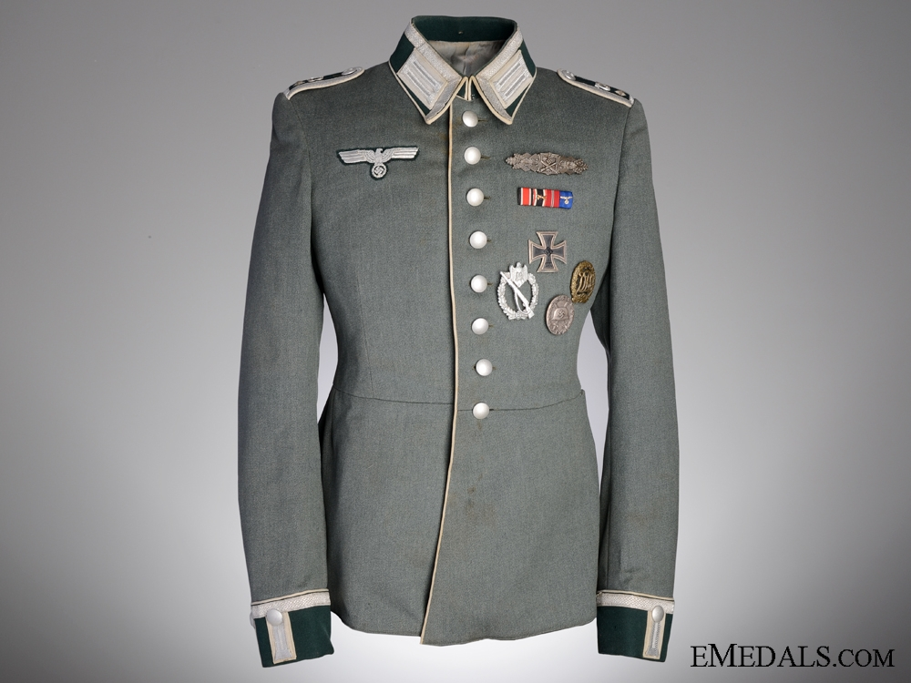 eMedals-A M35 Waffenrock by Hesemann with Awards