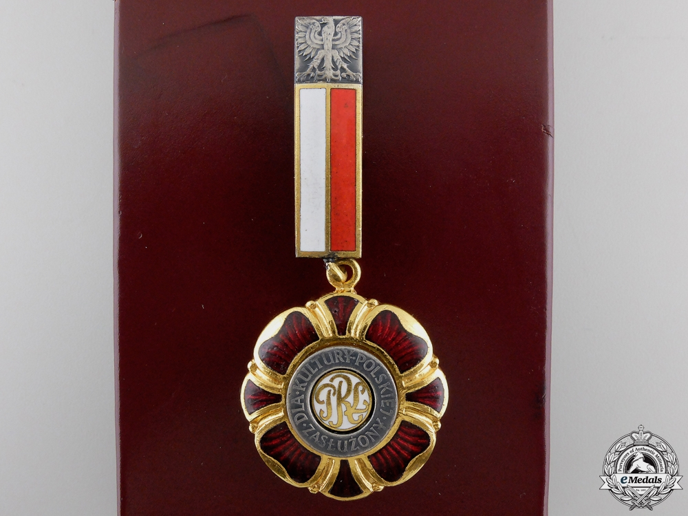 eMedals-A Medal of Merit for Polish Culture with Case