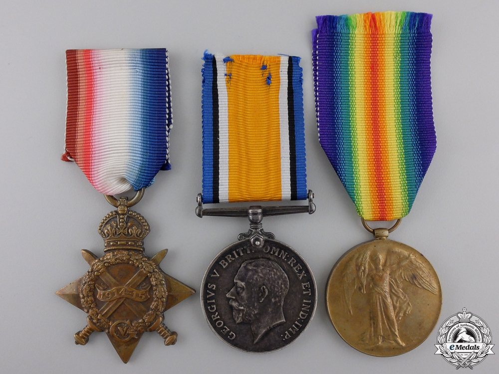 eMedals-A Medal Trio to the 19th Canadian Infantry; Wounded on the Somme