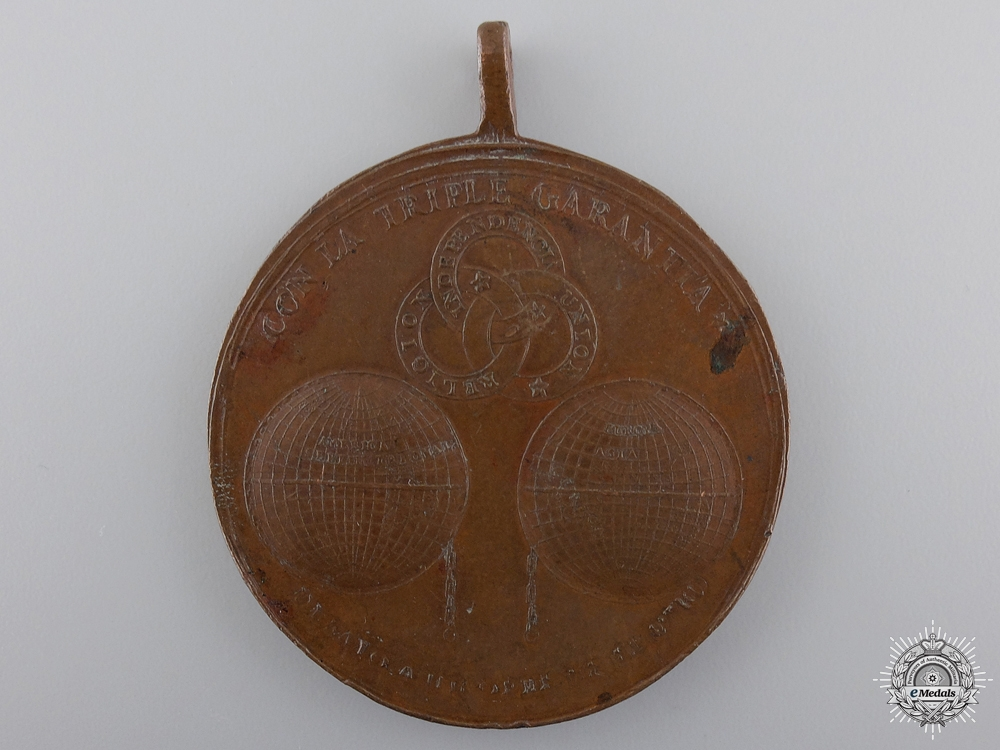 eMedals-A Mexican 1821 Iturbide Independence Medal