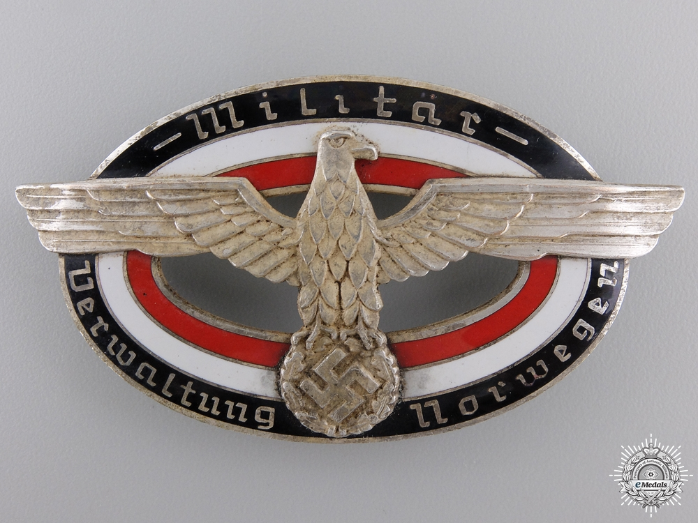 eMedals-A Military Administration of Norway Badge; Numbered