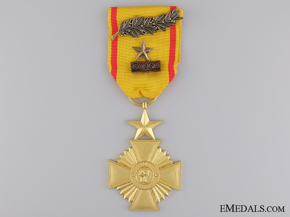 eMedals-A Military Merit Cross of the Congo; First Class