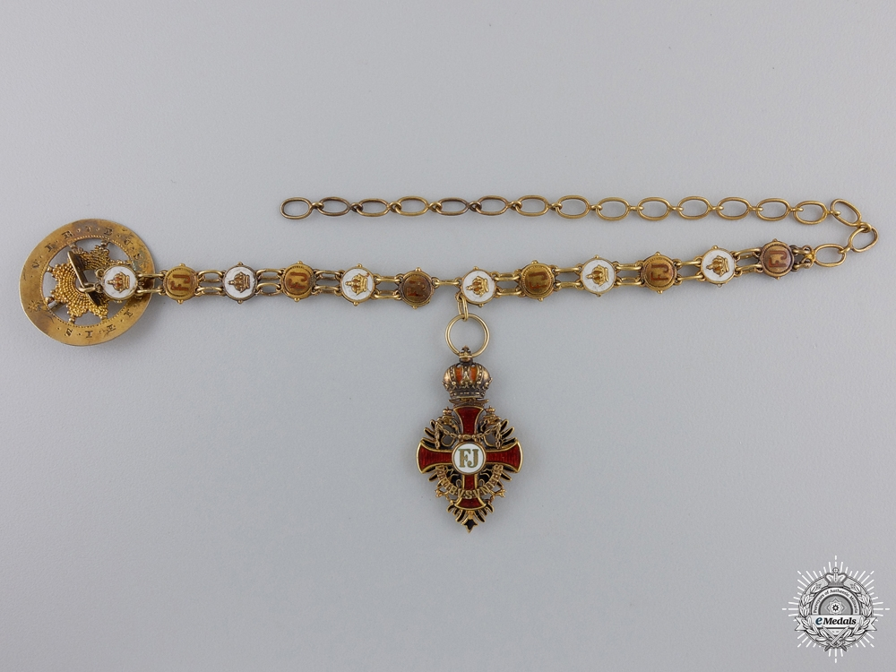 eMedals-A Miniature Austrian Order of Franz Joseph in Gold by Rothe