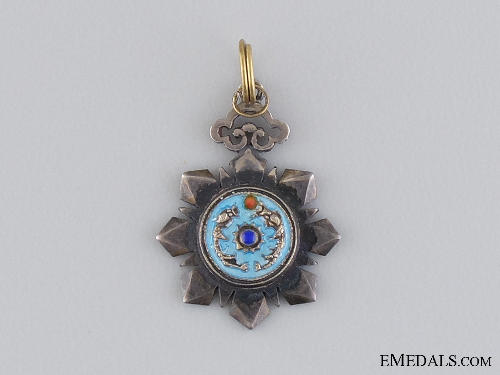 eMedals-A Miniature Chinese Order of the Double Dragon; 4th Class