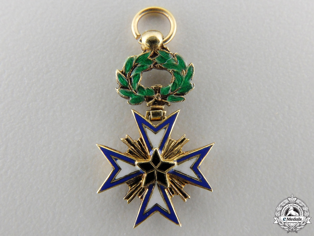 eMedals-A Miniature French Colonial Order of the Black Star of Benin in Gold