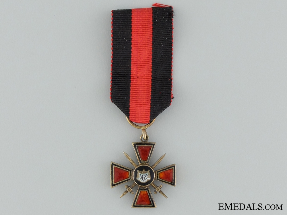 eMedals-A Miniature Imperial Order of St. Vladimir with Swords