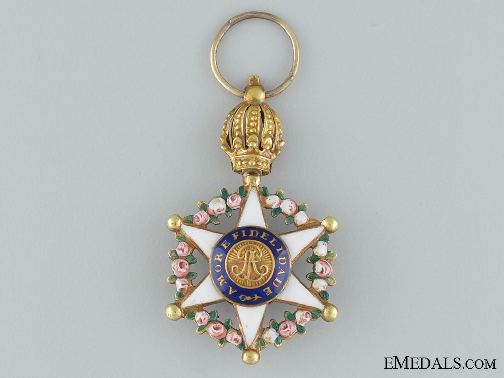 eMedals-A Miniature Order of the Brazilian Rose in Gold