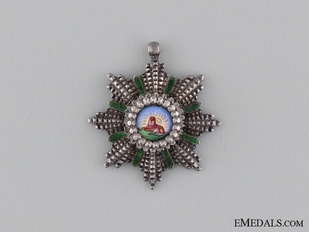 eMedals-A Miniature Order of Lion and Sun; Grand Cross Star