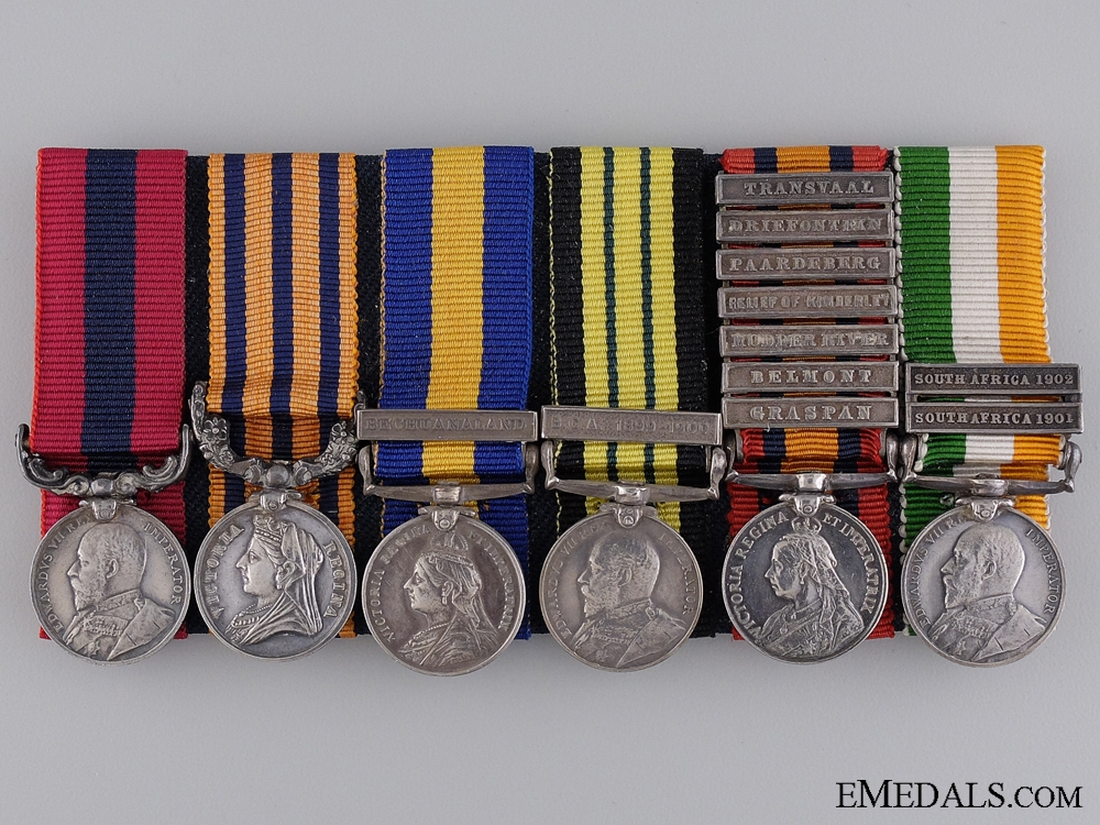 eMedals-A Miniature South African Service DCM Group