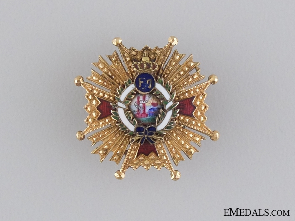 eMedals-A Miniature Spanish Order of Isabella the Catholic in Gold