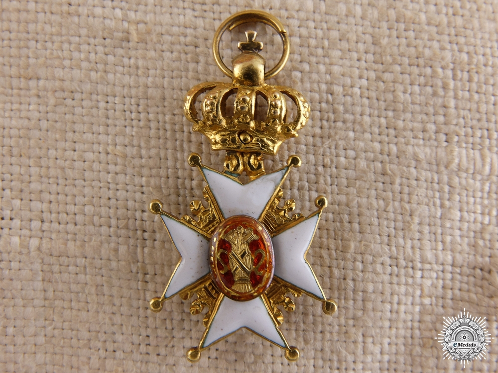 eMedals-A Miniature Swedish Order of Vasa in Gold