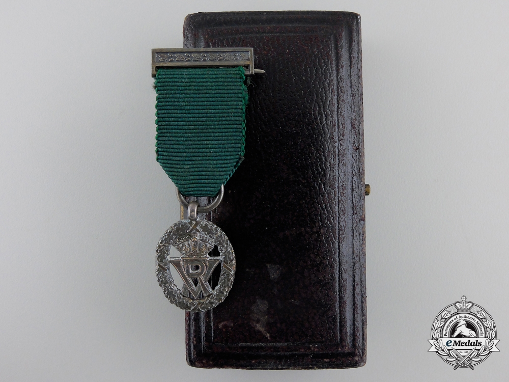 eMedals-A Miniature Volunteer Officer's Decoration with Garrard & Co. Case