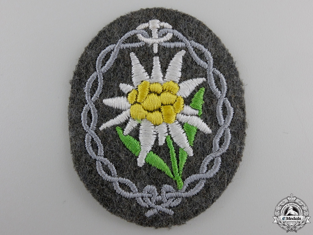 eMedals-A Mint Army Edelweiss Arm Badge