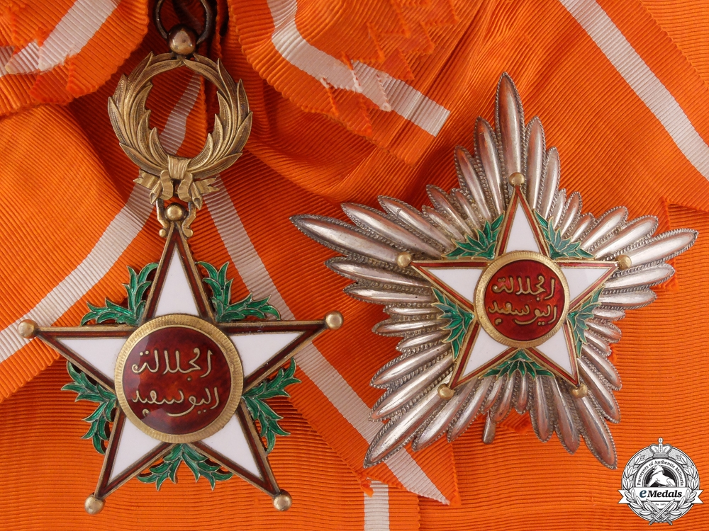 eMedals-A Moroccan Order of Ouissam Alaouite; Grand Cross Set
