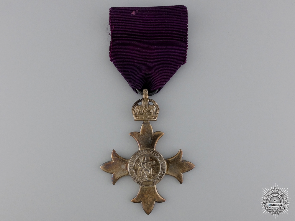eMedals-A Most Excellent Order of the British Empire; MBE
